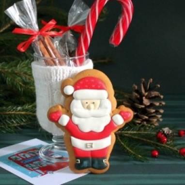Пряник Санта ручной работы