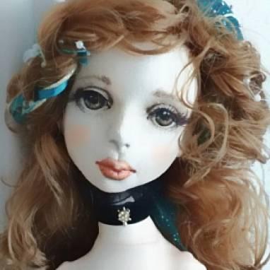 Будуарная кукла Констанция ручной работы