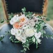 Букет невесты с розой пионовидной