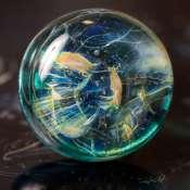 """Кольцо из стекла """"Рождение звезды"""""""