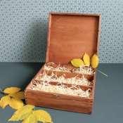 Коробка деревянная для трех бутылок вина