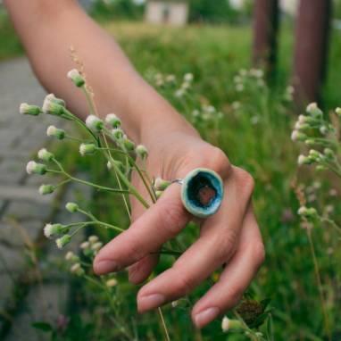 Керамическое кольцо ручной работы