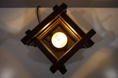 Светильник колодец (чёрный) ручной работы