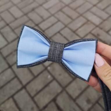 Серо-голубая бабочка ручной работы
