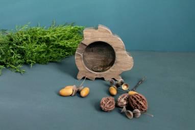 Деревянная свинка копилка ручной работы