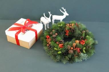 Рождественский венок ручной работы