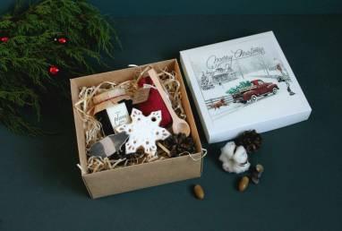Подарок новогодний со свинкой ручной работы