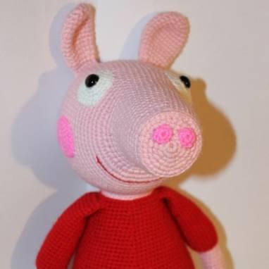вязаная игрушка свинка пеппа 8964 ручной работы купить на цех32