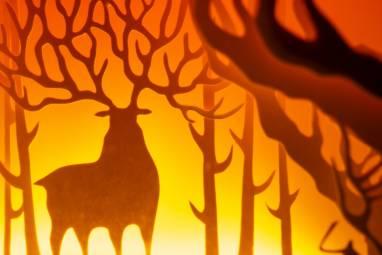 """Ночник авторский из природных материалов """"Лесной олень"""" ручной работы"""