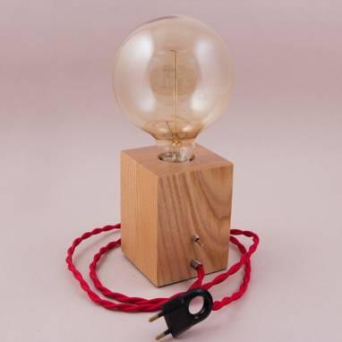Светильник C-1 Ясень светлый ручной работы