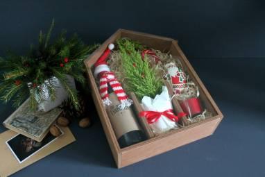 VIP подарок с елкой ручной работы