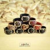 кольцо из натуральной кожи