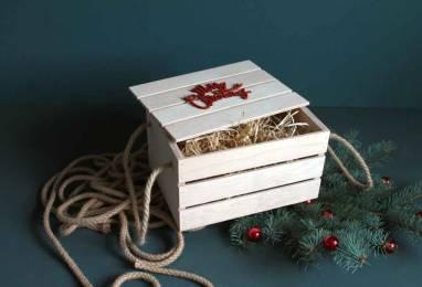 Деревянная коробка большая  ручной работы