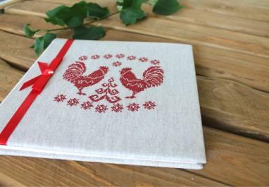фотоальбом в белорусском стиле с вышивкой ручной работы
