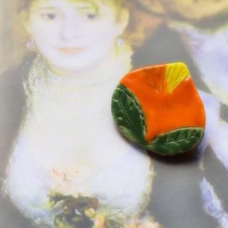 Керамическая брошка