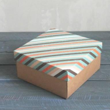 Коробка для мужского подарка ручной работы
