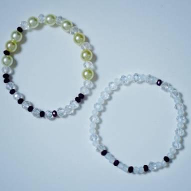 Комплект браслетов из хрусталя ручной работы