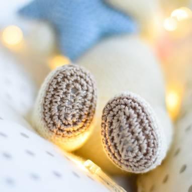 Мягкая игрушка Овечка амигуруми из 100% хлопка ручной работы