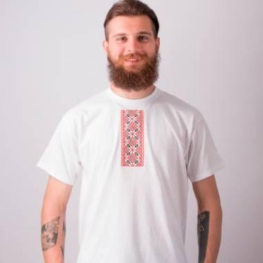 """Мужская футболка вышиванка """"Зорка і сям'я"""" ручной работы"""