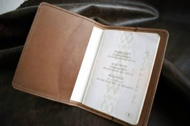 Обложка для паспорта LEMA late ручной работы