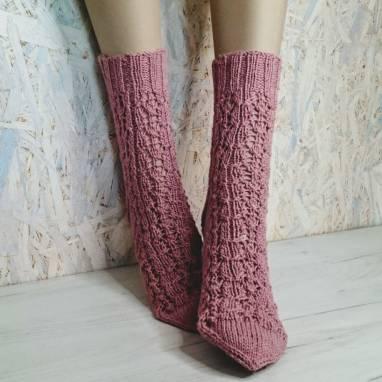 """Носки женские. Носки-домашняя обувь """" Кружевная сказка"""" ручной работы"""