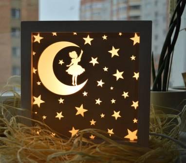 Светильник - ночник из дерева  ручной работы