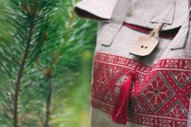 Льняная женская сумка ручной работы