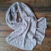Вязаный шарф-палантин.