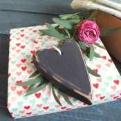 14 февраля деревянное сердечко