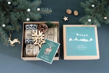 Подарочная коробка для него к новому году ручной работы