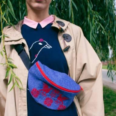 """Поясная сумка """" Каханне"""" ручной работы"""