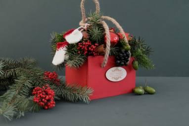 Рождественская композиция ручной работы