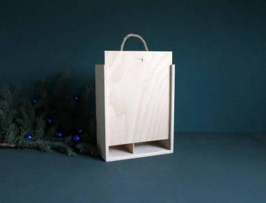 Деревянная коробка под виски ручной работы