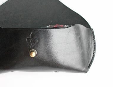 Футляр для очков кожаный (black) ручной работы