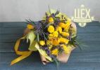 Большой жёлтый с тюльпанами