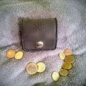 Монетница из натуральной кожи