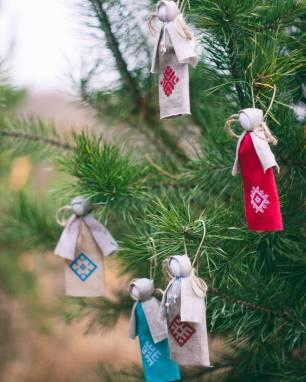 рождественские ангелки на елку ручной работы