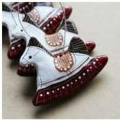 Елочные керамические игрушки