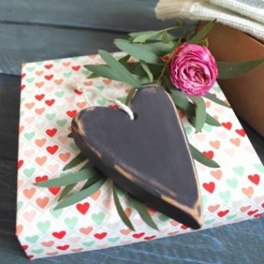 14 февраля деревянное сердечко ручной работы
