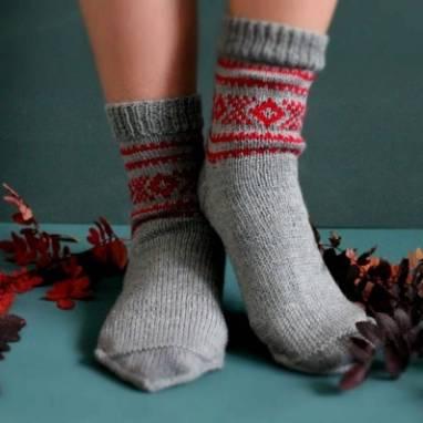 Носки вязанные мужские ручной работы