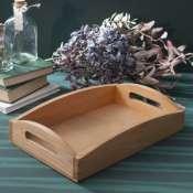 Поднос деревянный натурального цвета