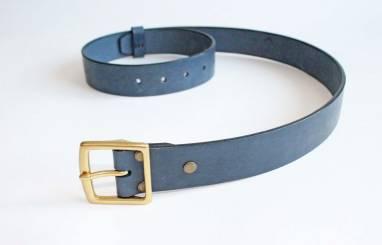 Ремень кожаный Taru (blue) ручной работы