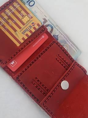 Женский кожаный кошелёк ручной работы  ручной работы