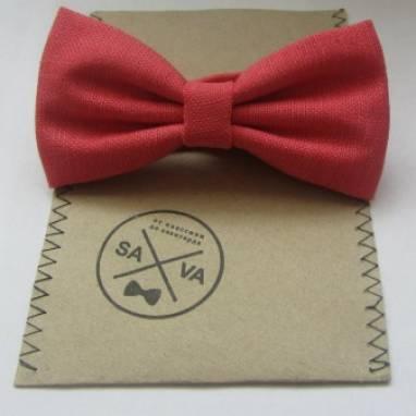 Красная бабочка галстук ручной работы