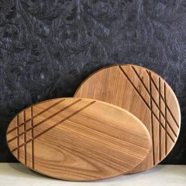 Сервировочная доска из дерева ручной работы