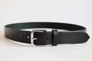 Ремень кожаный Urho (black) ручной работы