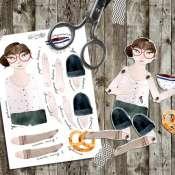 открытка- бумажная кукла