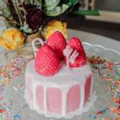 Соевая свеча «Клубничное суфле со сладкой ванилью и сливочным кремом»
