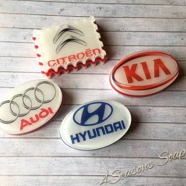 Мыло ручной работы с логотипом авто ручной работы
