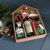 Подарок в деревянной коробке к Новому году 2021